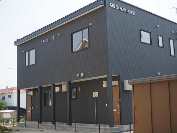 北海道帯広市のウィークリーマンション・マンスリーマンション「GREEN PARK HOUSE(グリーンパーク ハウス)」外観画像