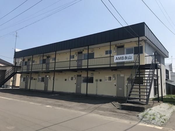 北海道旭川市のウィークリーウィークリーマンション・マンスリーマンション「AMB永山 」外観画像