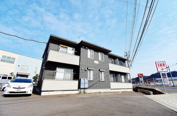 岡山県の家具付き賃貸「シャーメゾンプロスペリーテ平島」外観画像
