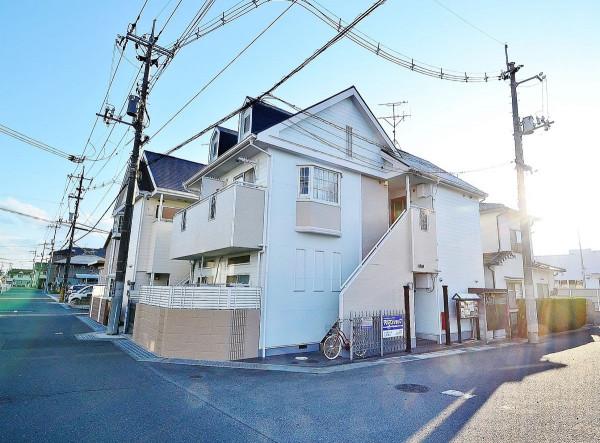 岡山県の家具付き賃貸「パレス西長瀬Ⅱ」外観画像