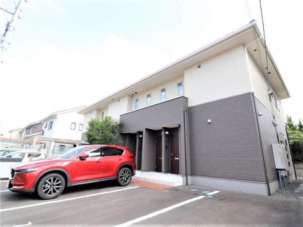 広島県福山市のウィークリーマンション・マンスリーマンション「Kマンスリー神辺道上」外観画像