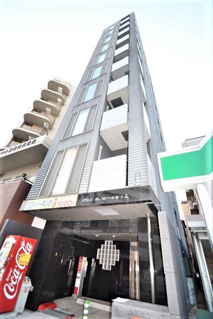 広島県の家具付き賃貸「グランドポレストーネ富士見」外観画像