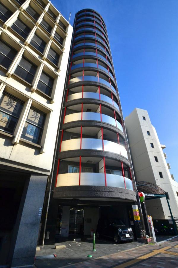広島県の家具付き賃貸「グランドポレストーネ竹屋」外観画像