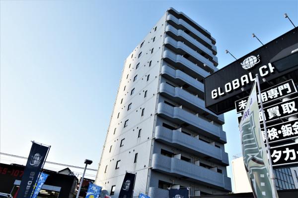 横浜のウィークリーマンション・マンスリーマンション「Kマンスリー新子安駅前」外観画像