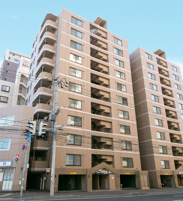 北海道の家具付き賃貸「パークヒルズイースト23」外観画像
