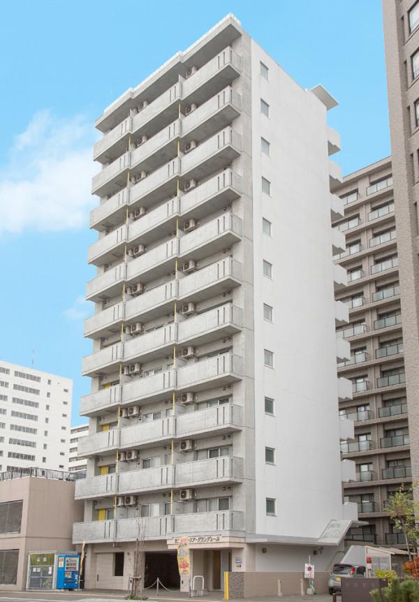 北海道の家具付き賃貸「セントポーリアグランデュール」外観画像