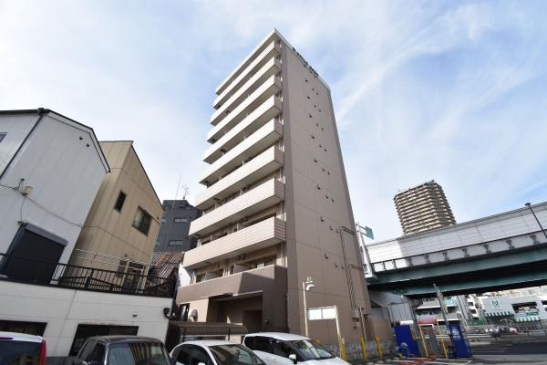 兵庫県のウィークリーマンション・マンスリーマンション「Kマンスリー神戸兵庫駅南」外観画像
