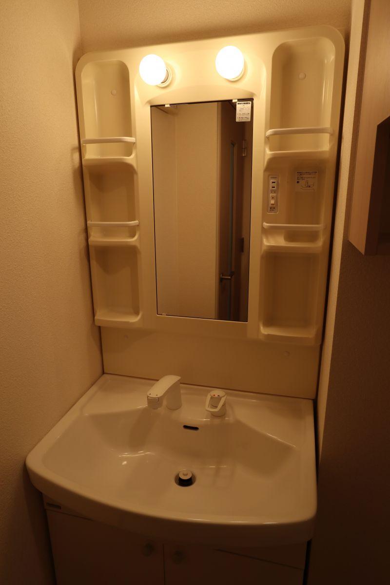 独立洗面台完備!!朝の準備も余裕を持ってできます◎