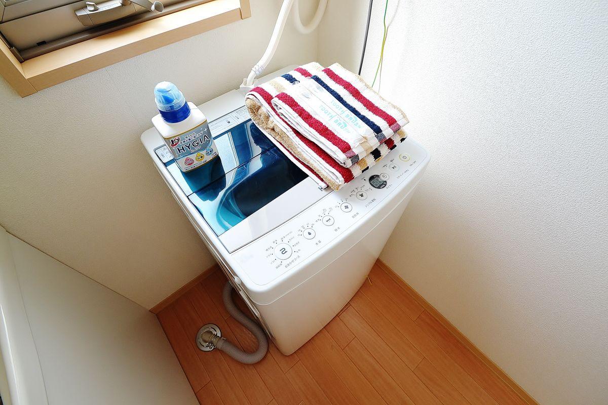 洗濯洗剤もアメニティとしてついてきます!