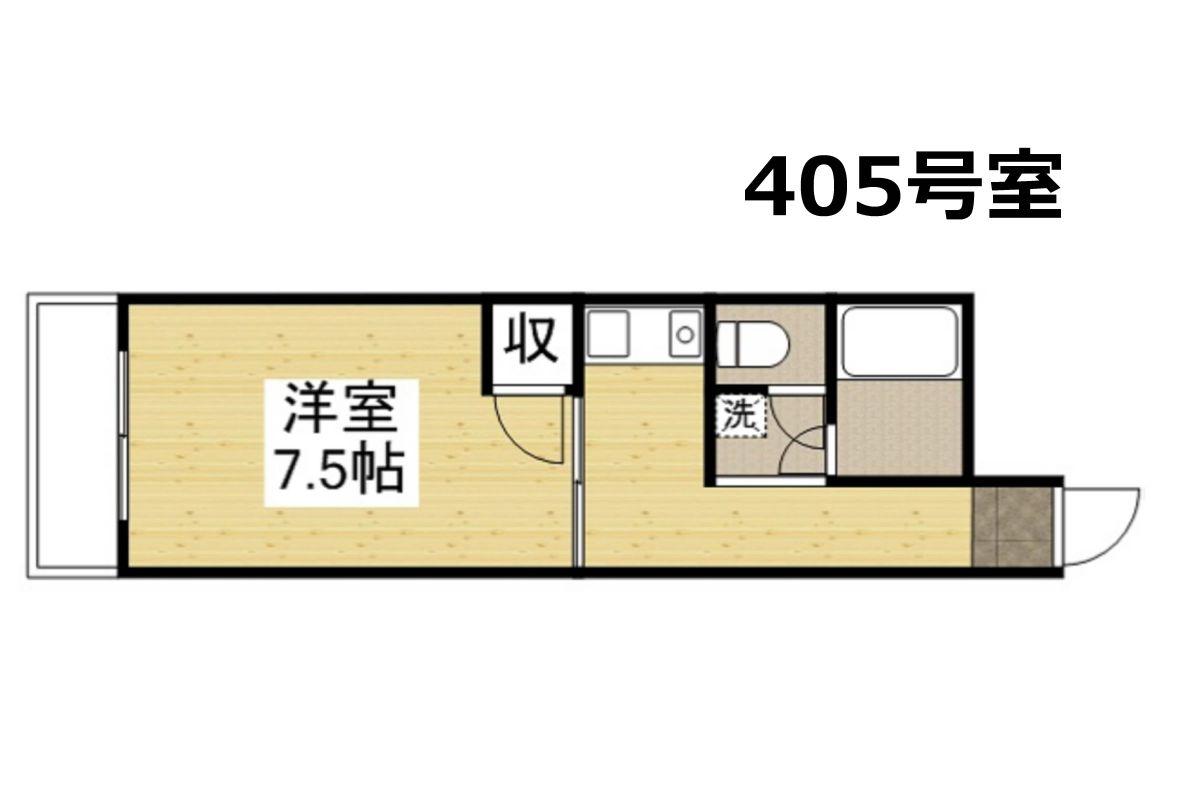 「Kマンスリー岡山日赤病院前【禁煙】」間取図画像