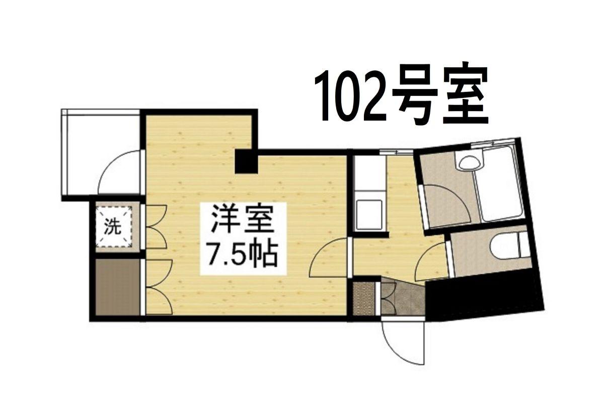 「Kマンスリー倉敷駅南口前【喫煙可】」間取図画像