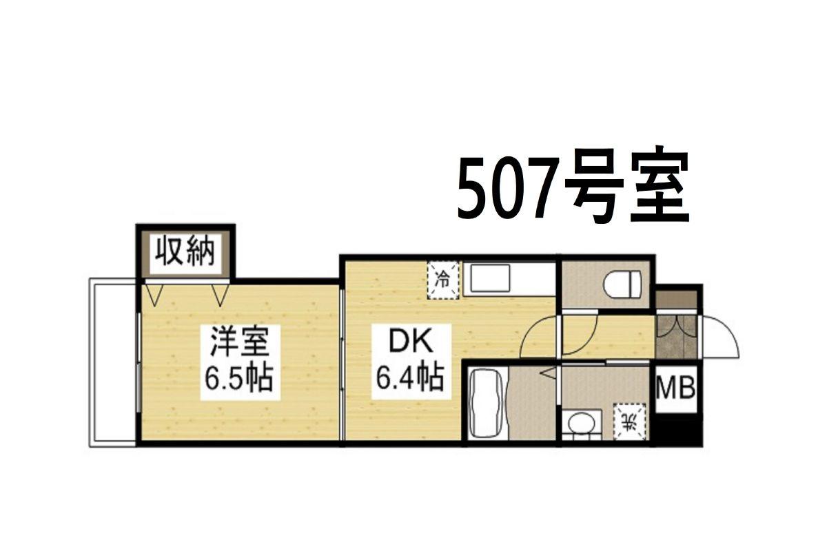「Kマンスリー岡山駅東【岡山駅東口前】」間取図画像