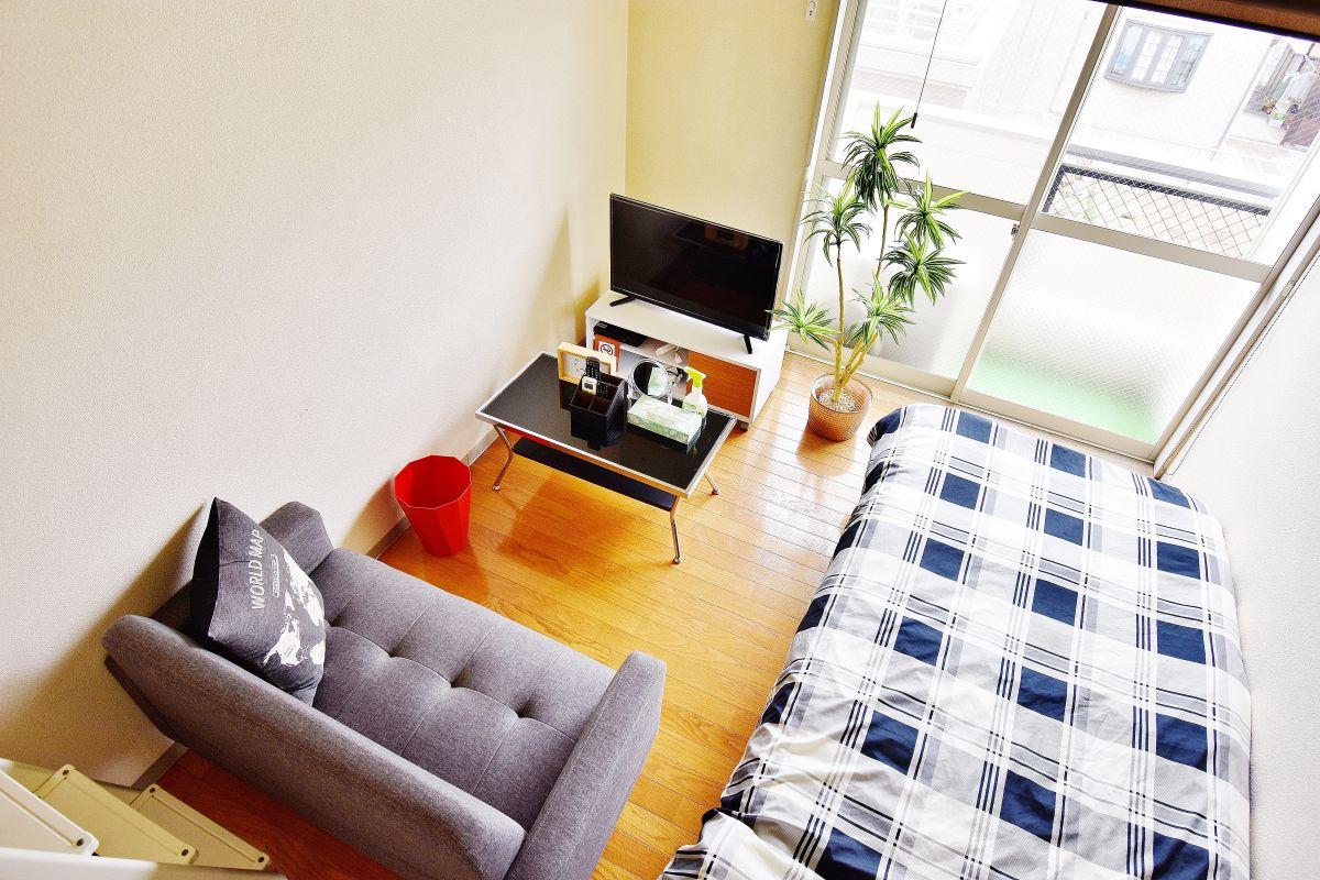 岡山県倉敷市の家具付き賃貸「アップルハウス水島Ⅲ」メイン画像