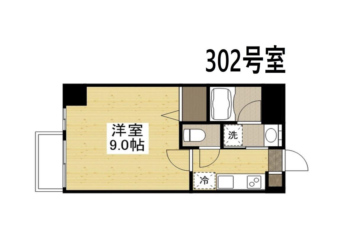 「Kマンスリー岡山市役所前【岡山駅東口前】」間取図画像