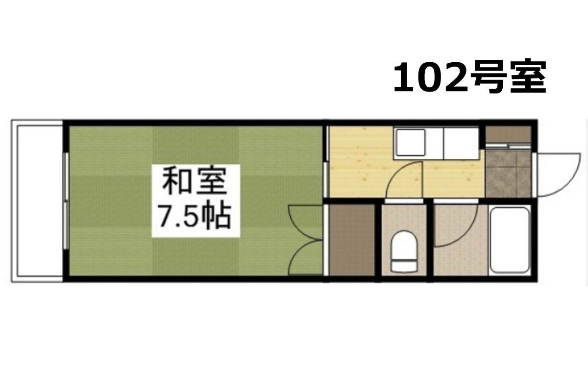 「Kマンスリー倉敷平成病院前【倉敷駅前】」間取図画像