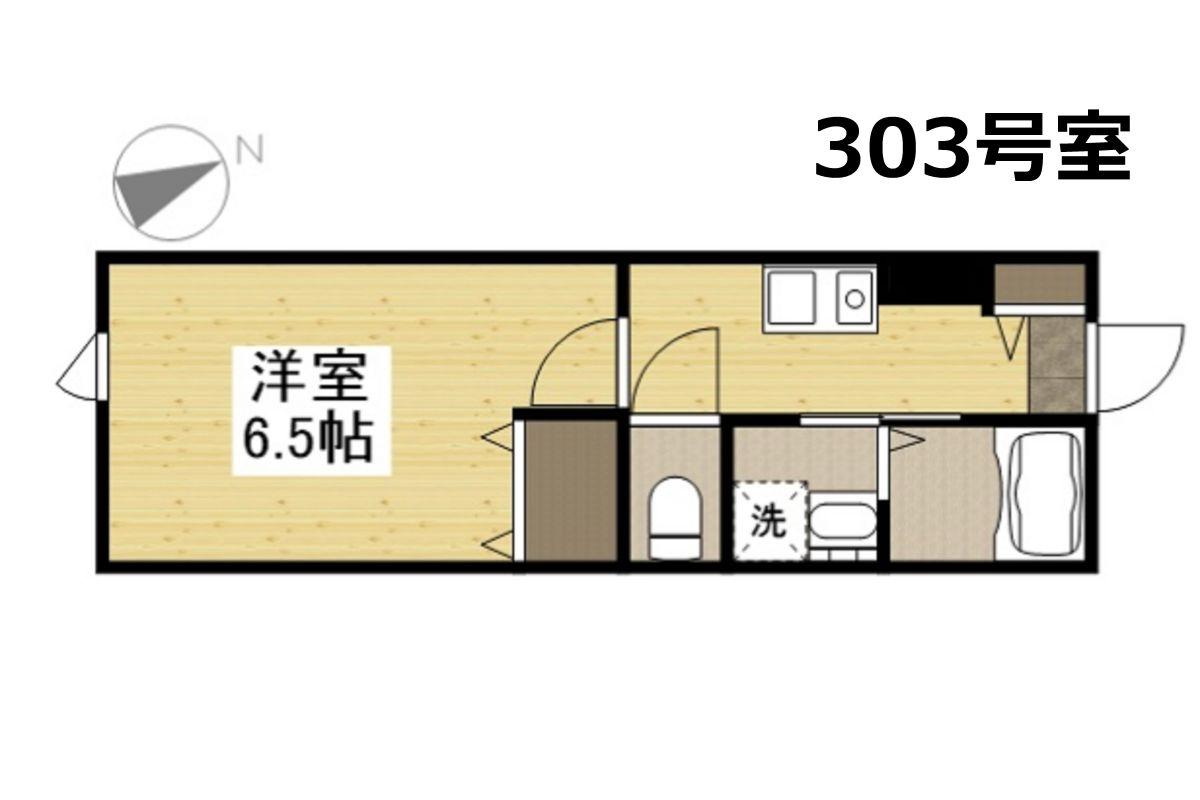 「Kマンスリー岡山医大【岡山駅東口前】」間取図画像