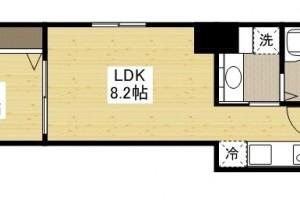 「Kマンスリー広島鉄砲町」間取図画像