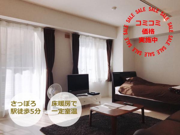 札幌の家具付きウィークリー・マンスリーマンション「デザイナーズ札幌 禁煙(No.125802)」メイン画像