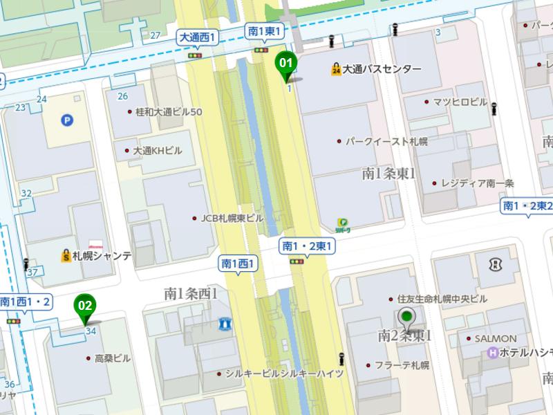 01バスセンター前 距離204m 徒歩3分  02大通 距離241m 徒歩3分