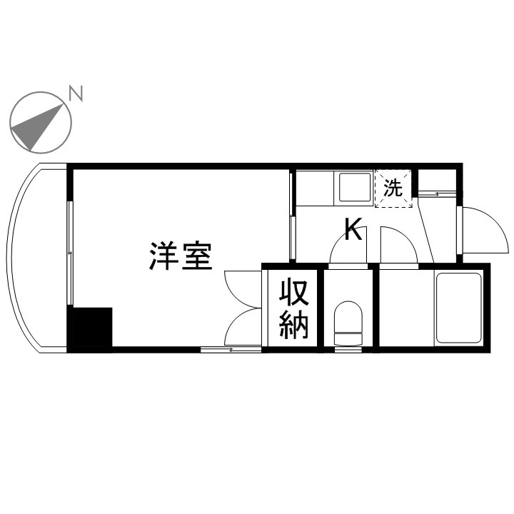 「Kマンスリー呉中通」間取図画像