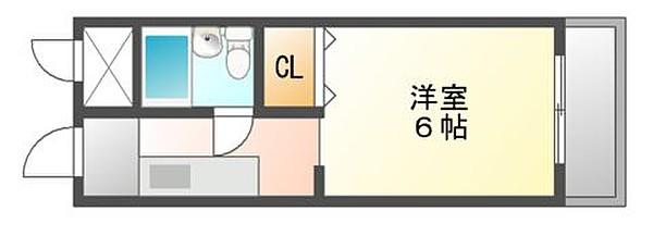 「Kマンスリー東福山駅北口」間取図画像