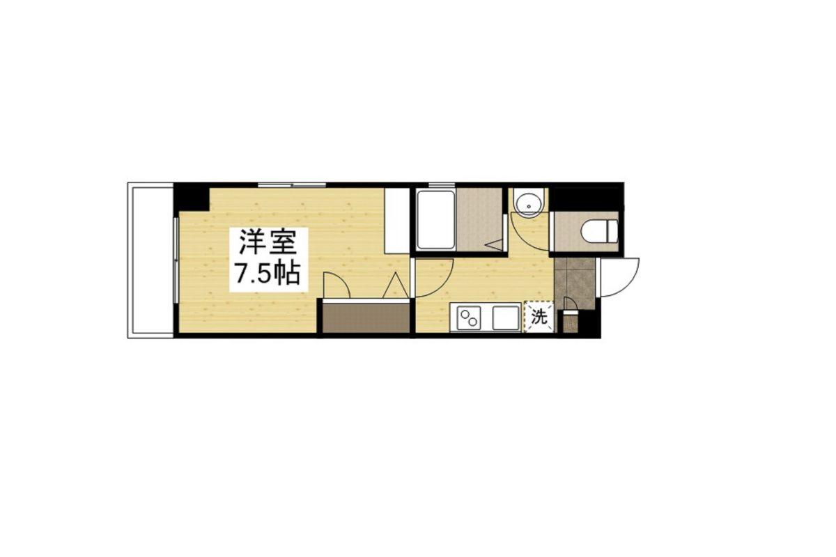 「Kマンスリー神戸湊川公園駅前」間取図画像