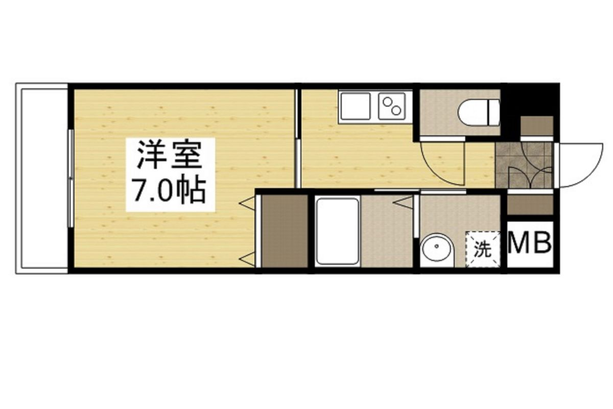 「Kマンスリー神戸板宿駅前」間取図画像