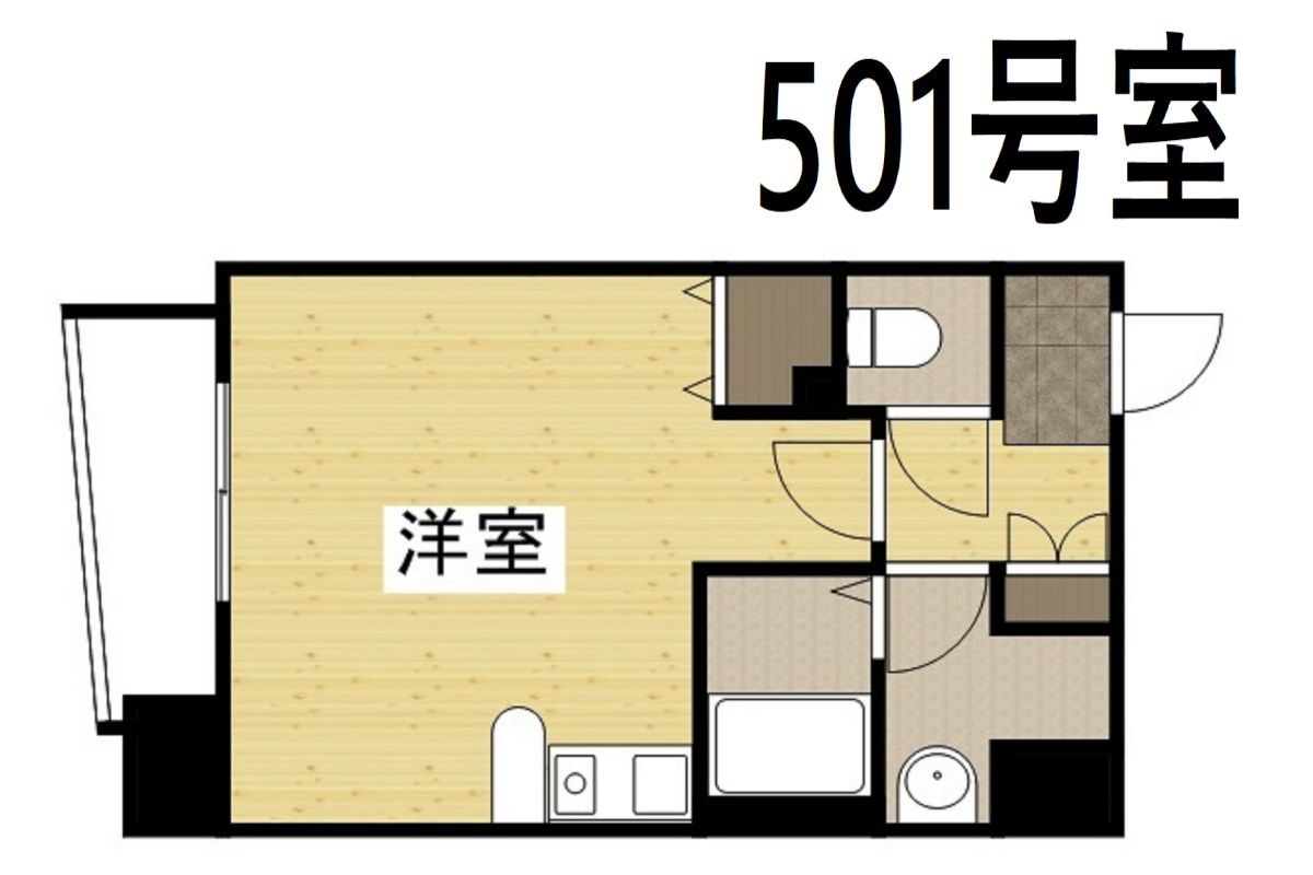 「Kマンスリー堺筋本町駅」間取図画像