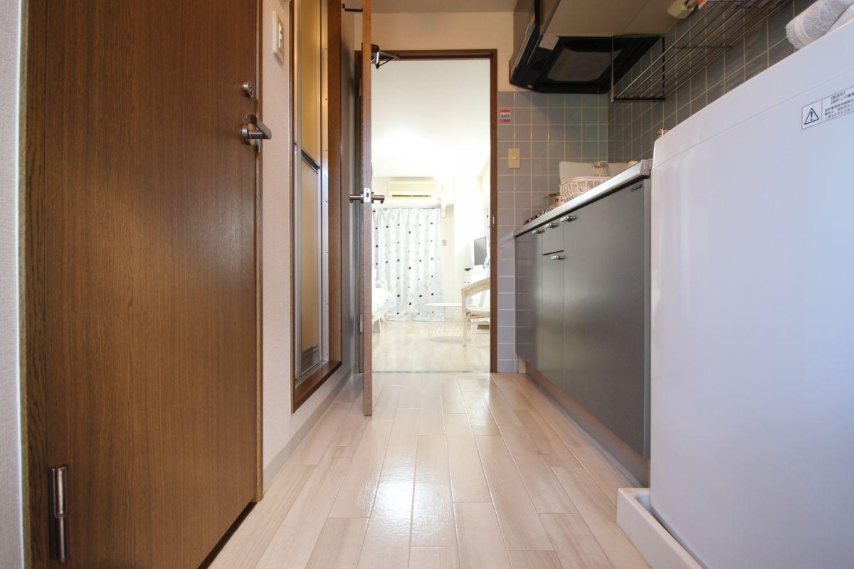 キッチンスペースも単身には十分なスペースがあります(^^)/