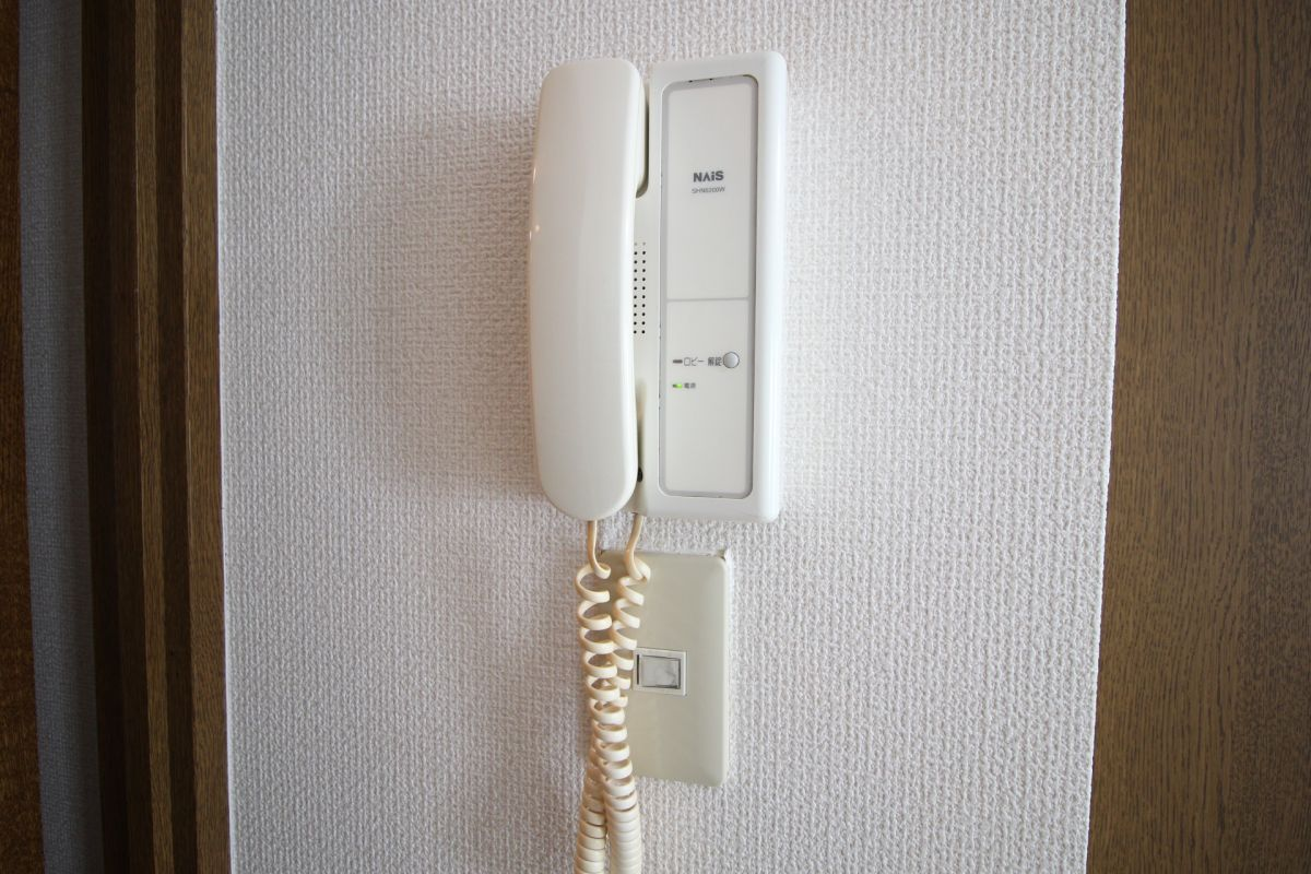 オートロック開錠機能付きのインターフォンで安心!(^^)!