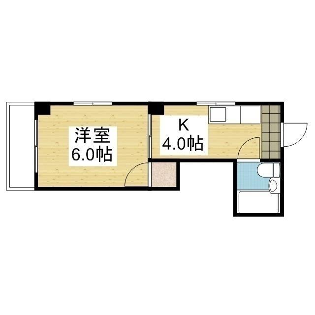「愛媛マンスリー松山市勝山町」間取図画像