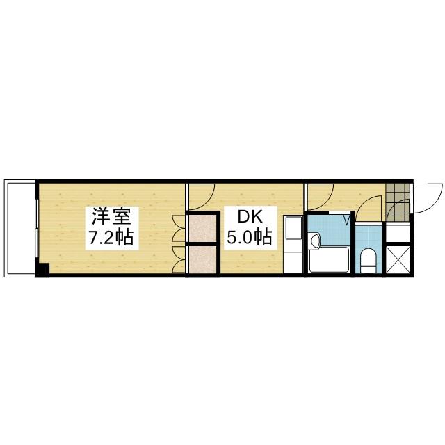 「愛媛マンスリー松山市小坂」間取図画像