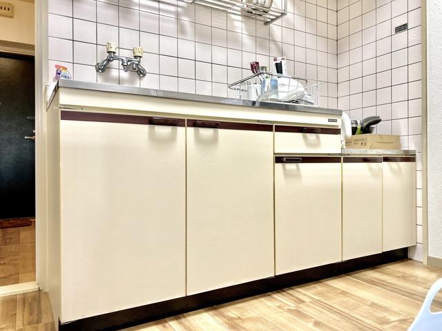 広々キッチンで、料理も効率よく行えます。