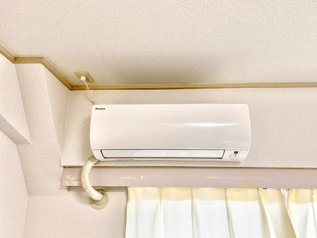 エアコン完備です。季節問わず、快適に生活をおくれます。