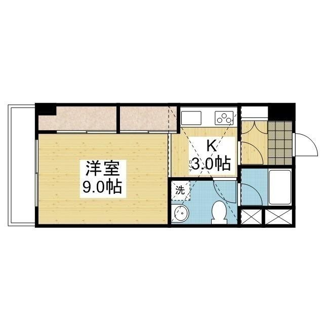 「愛媛マンスリー東温市南方」間取図画像