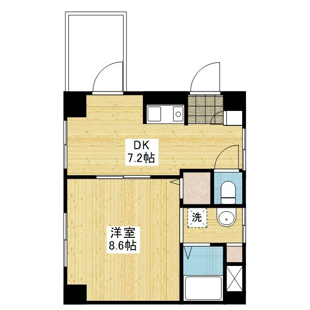 「愛媛マンスリー松山市千舟町」間取図画像