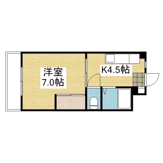 「愛媛マンスリー松山市本町」間取図画像