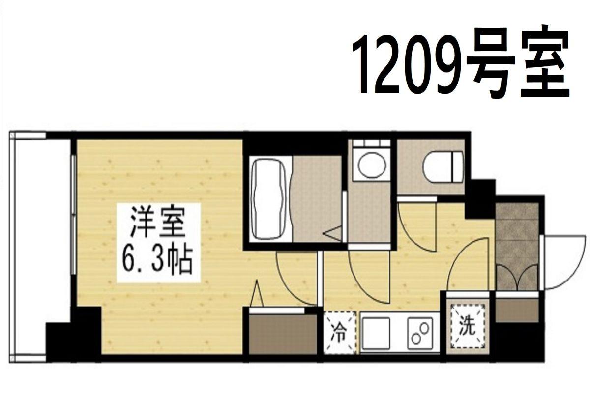「Kマンスリー難波南【大国町駅・今宮駅】」間取図画像