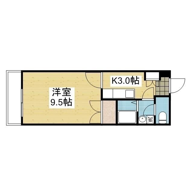 「愛媛マンスリー松山市祇園」間取図画像