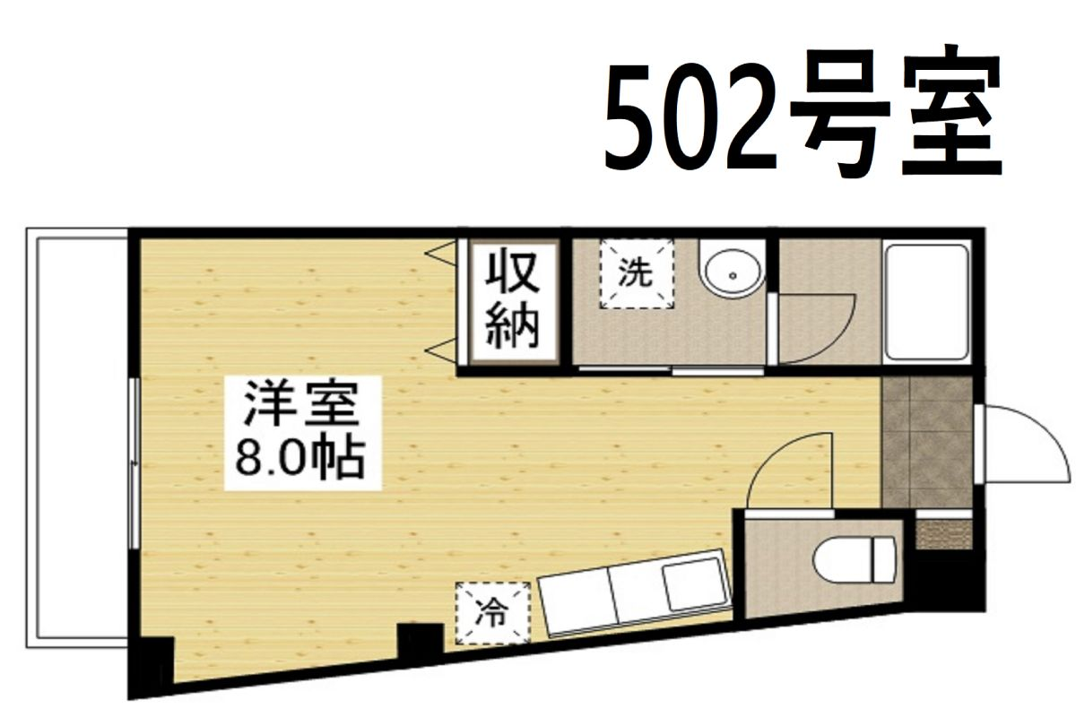「Kマンスリー大阪西九条駅」間取図画像