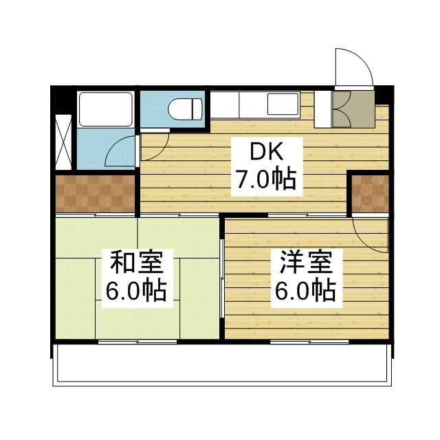 「愛媛マンスリー松山市柳井町」間取図画像