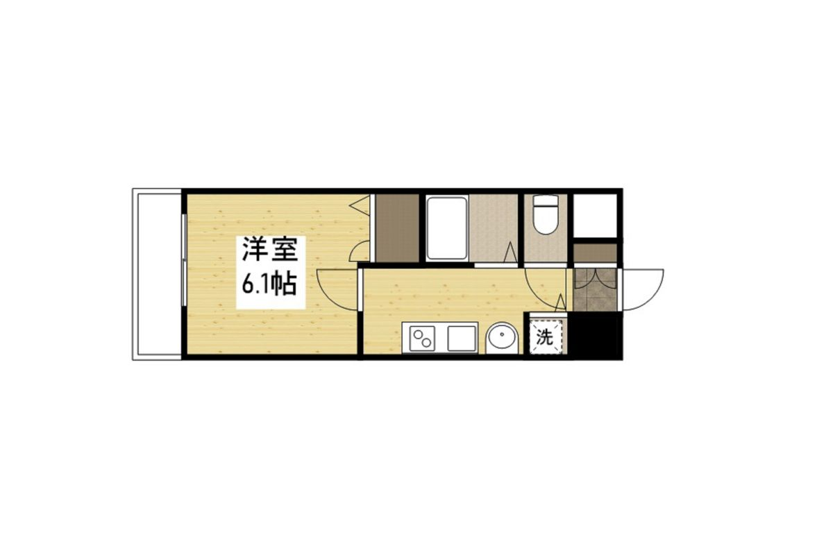 「Kマンスリー神戸三宮駅北」間取図画像