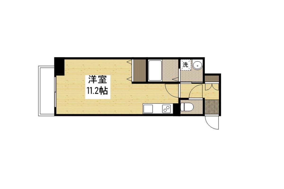 「Kマンスリー新神戸三宮駅」間取図画像