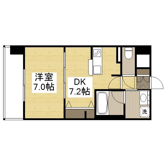 「Kマンスリー大阪梅田北」間取図画像