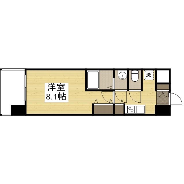 「Kマンスリー神戸新開地駅前」間取図画像