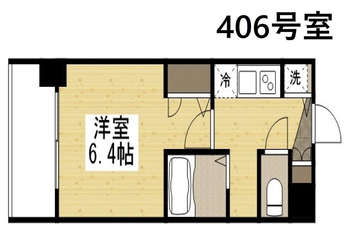 「Kマンスリー大阪ドーム南【大正駅前】」間取図画像