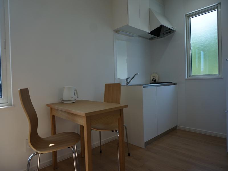 シンプルなキッチンスペース