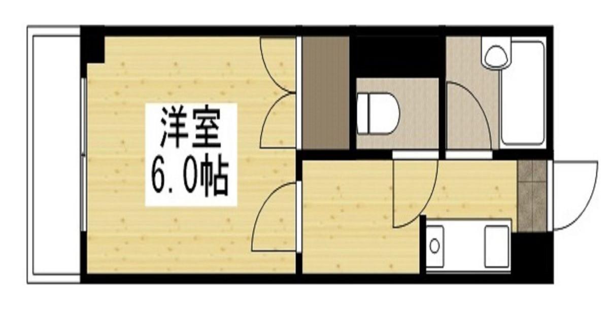 「Kマンスリー大阪福島区野田駅前」間取図画像