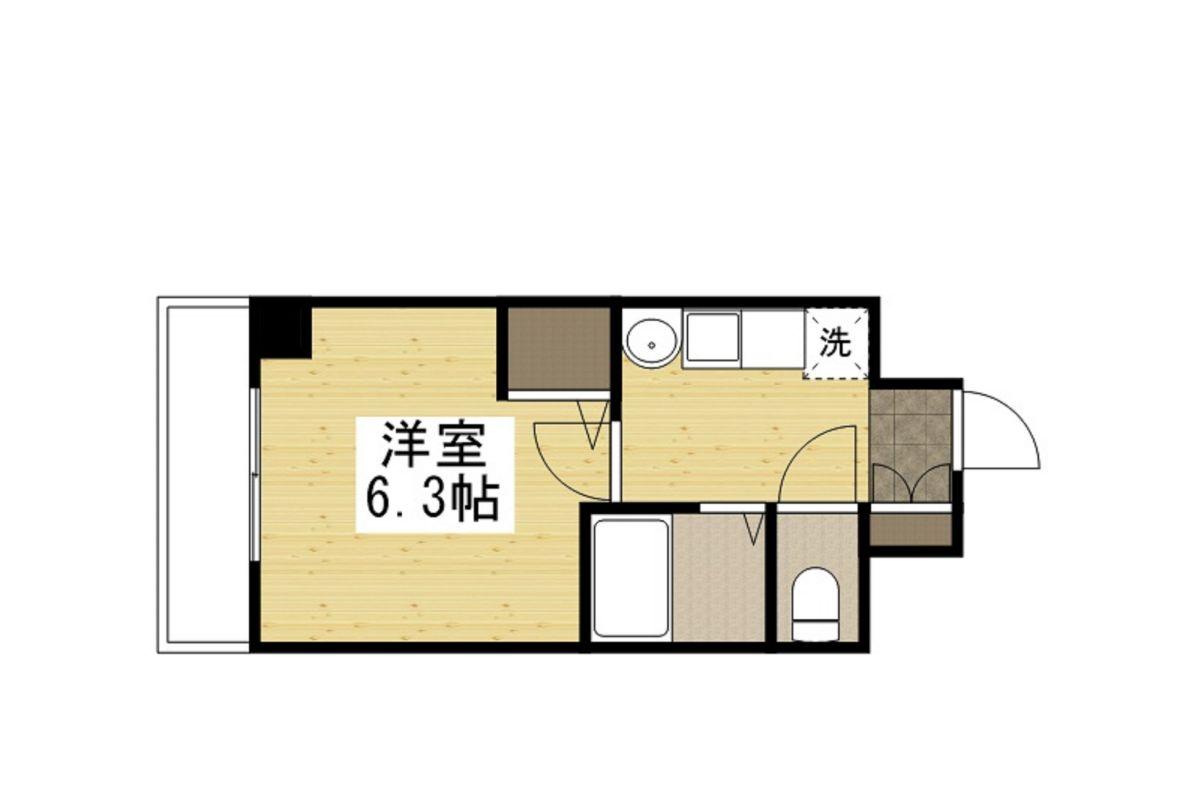 「Kマンスリー大阪天満宮駅前」間取図画像