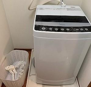 洗濯機4キロ 洗濯洗剤 ランドリーバスケット 物干し竿 洗濯ばさみ(大 小)物干しハンガー5本